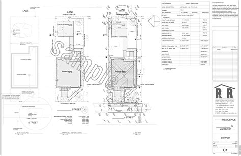 site plan drawings sle drawings rjr construction group vancouver