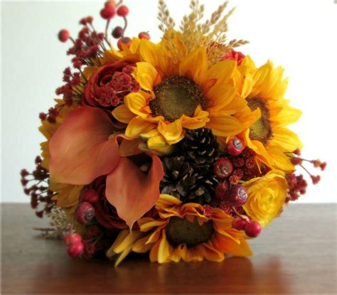 Autumn Silk Wedding Flowers by Request A Custom Order And Something Made Just For You