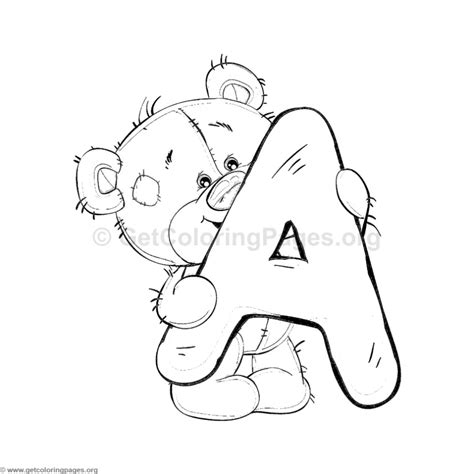 a to z coloring pages pdf teddy bear alphabet letter a coloring pages