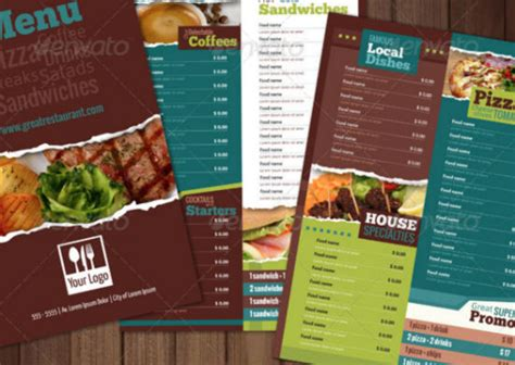 well designed menu templates for restaurants in need