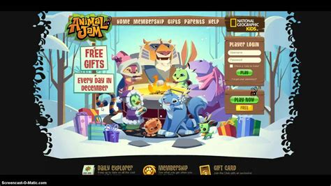 new animal jam home screen