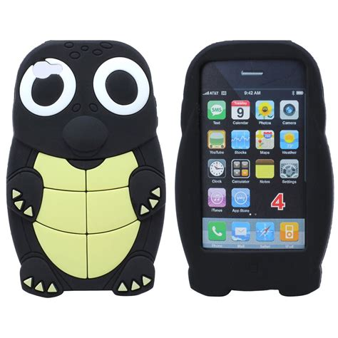 Iphone 4g4s Back Jelly Motif apple iphone 4s 4 4g turtle tortoise animal design silicone skin back cover ebay