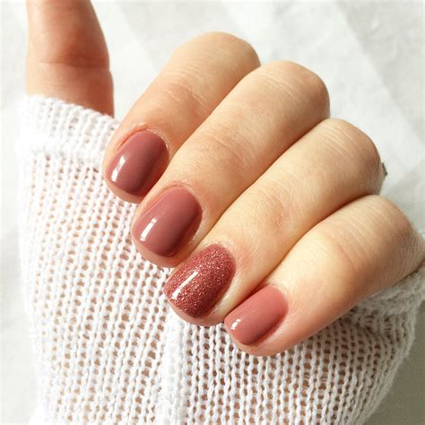 color gel nails absolutely this colour combination mauve maven and
