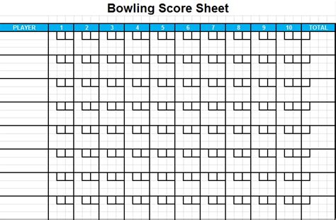 Bowling Spreadsheet by Bowling Score Sheet Excel Template Excel Tmp