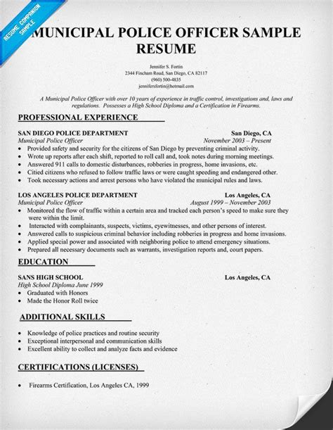 military police officer resume sample state officials resume