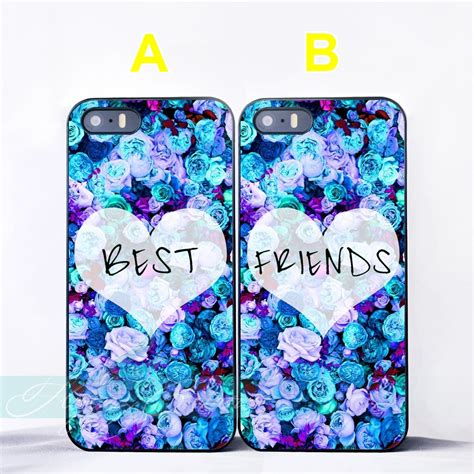 coque roses girls  friend bff couple cases  iphone         se