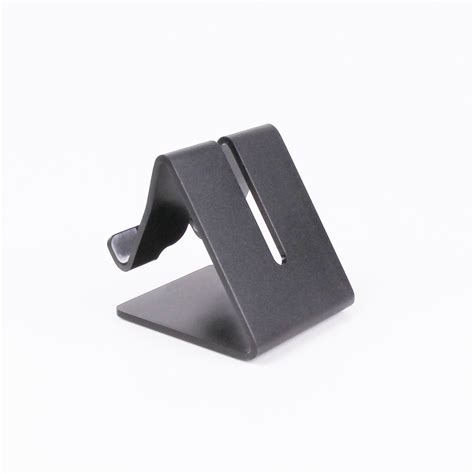 phone stand for desk aluminium desk stand for phones small tablets black