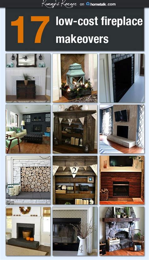 Fireplace Makeover Cost by 17 Low Cost Fireplace Makeovers Idea Box By Kammy S Korner