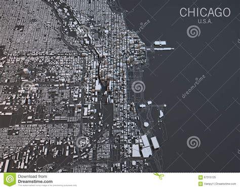 satellite map united states chicago map satellite view united states stock