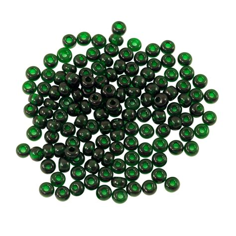 seed beading preciosa seed bead 6 0 transparent emerald 10 grams