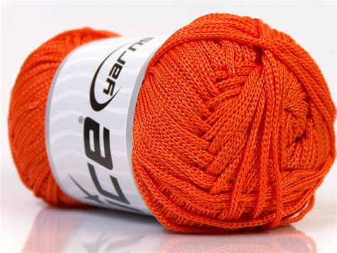 Yarn Macrame - macrame cord orange basic plain yarns yarns