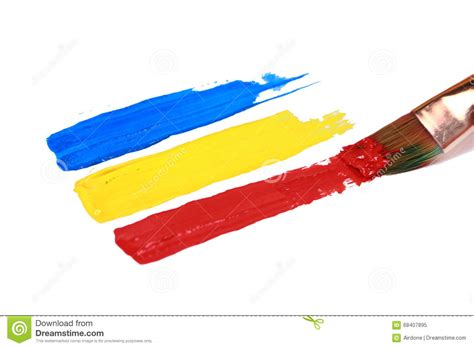 primary color paint strokes stock illustration image 68407895