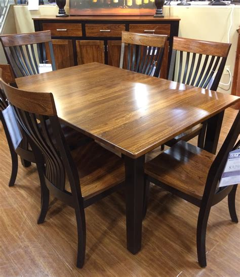 elm dining table palettes by winesburg blk elm 4260a two toned dining table