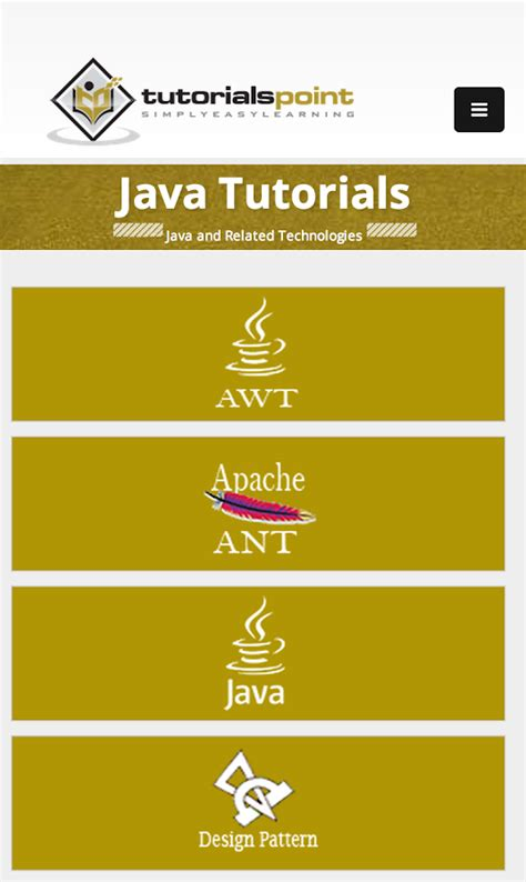 tutorialspoint for java tutorialspoint android apps on google play