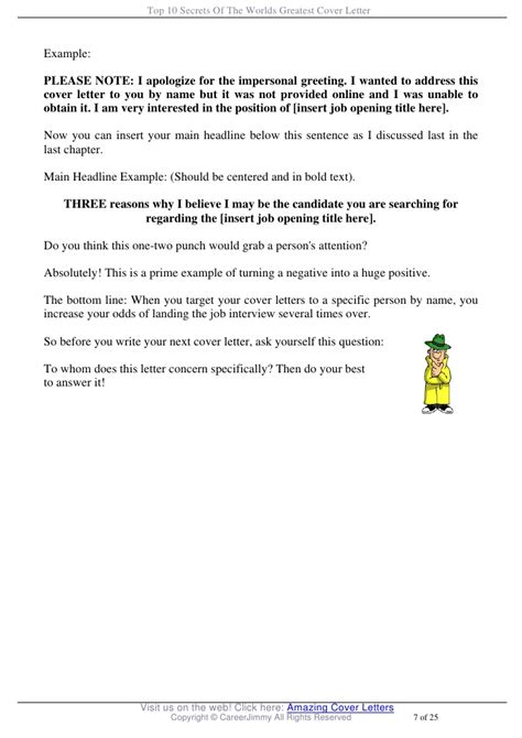 writing the best cover letter 22 free sample in best cover letters