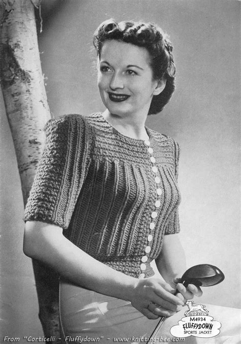 vintage knitted patterns the vintage pattern files 1940 s knitting womens sports