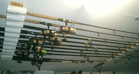 How To Build A Fishing Pole Rack by Diy Fishing Rod Holder