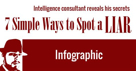 7 Hows To Spot A Liar by 7 Simple Ways To Spot A Liar Intelligence Consultant