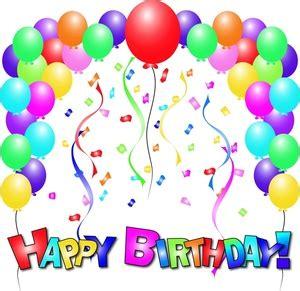 free birthday clip art image happy birthday balloons and text