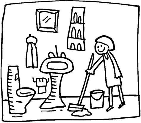 tidy up coloring page barriendo la habitaci 243 n dibujalia dibujos para