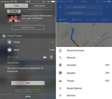 new google maps 2016 google maps app gains travel times widget and direction