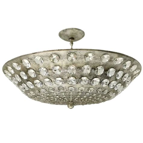 Leaf Light Fixture Large Silver Leaf Light Fixture With Crystals For Sale At 1stdibs