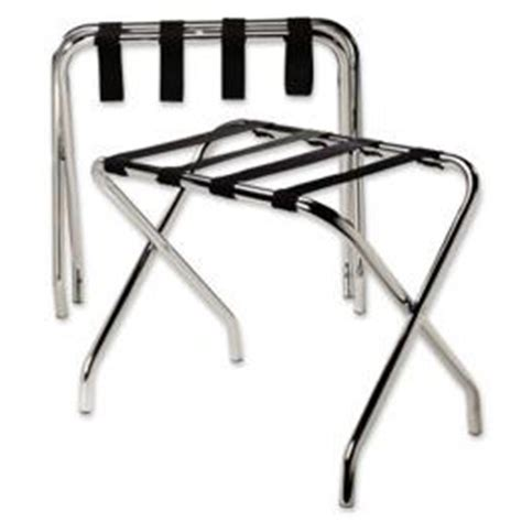 Luggage Rack Hotel Style by Hotel Style Chrome Hardwood Luggage Rack From The