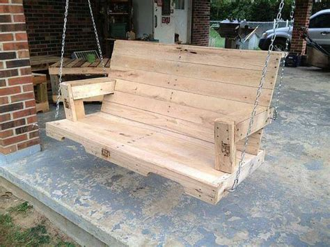 pallet swing bench enjoy with pallet porch swing in leisure time 101 pallets