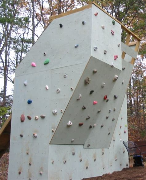 Backyard Climbing Wall Make Garden Climbing Wall