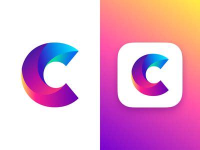 design a logo application letter c concept by zivile zickute dribbble