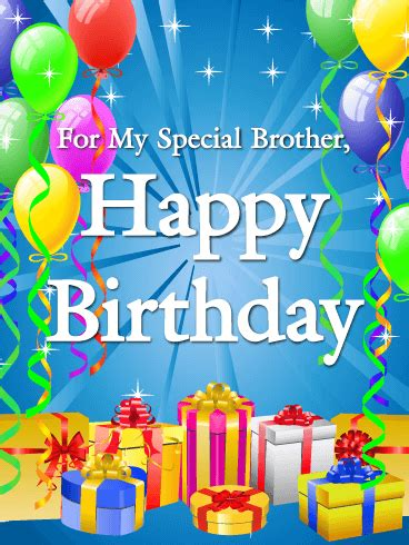 for my special brother happy birthday card birthday