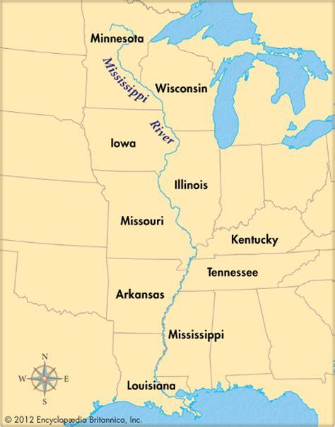 map of mississippi river mississippi river encyclopedia children s homework help dictionary