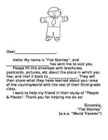 Stanley Cover Letter by Flat Stanley Letter For Students Of All Ages