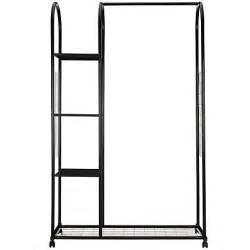clothes rail with shelves buy lewis clothes rail with shelf unit black