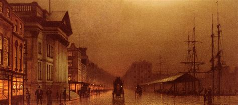 house painters liverpool rainy nights paintings by john atkinson grimshaw 1800s