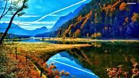 Autumn Mountain Wallpaper Desktop Background With HD