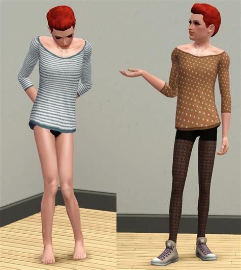 Crisp Feminine Top 3 by Mod The Sims Tunic Top