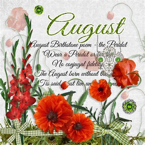 august color what is august birthstone color and flower monthly