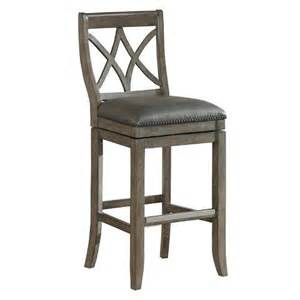 hadley swivel leather 26 quot counter stool hardwood target