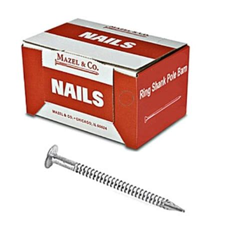 buy the mazel 13205016 ring shank pole barn nail, 3 1/2