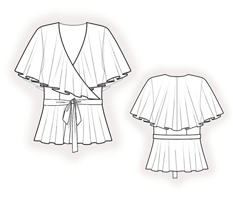 drawing blouse pattern chiffon blouse sewing pattern 4238 made to measure