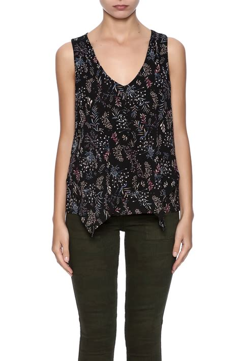 Sleeveless Floral Top dex floral sleeveless top from nebraska by apricot