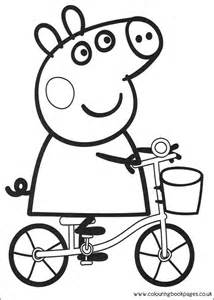 peppa pig colouring pages printable pictures sheets colouring