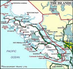 map of vancouver island columbia travel and
