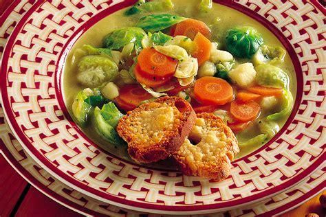 cucinare i cavolini di bruxelles ricetta minestra ai cavolini di bruxelles la cucina italiana
