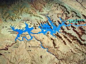 lake powell map images