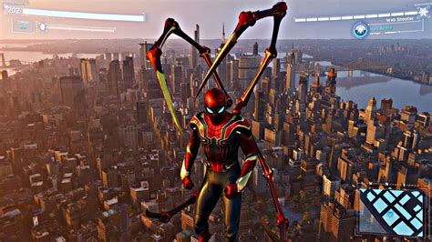 spiderman  web  jumping  building   hq