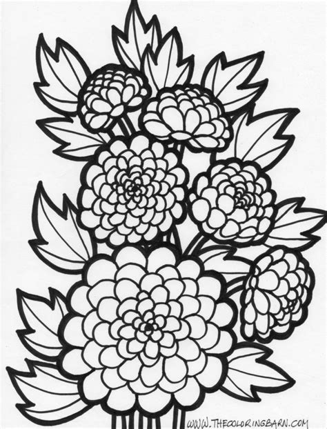 coloring pages flowers for adults coloring pages difficult flower coloring pages
