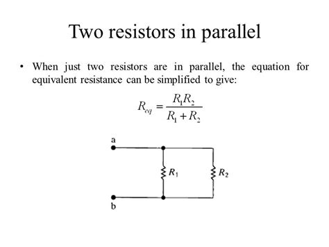 resistors in parallel equation quiz 1 a find the currents i1 and i2 in the circuit in the figure b find the voltage vo c