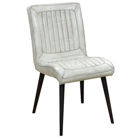 White Leather Dining Room Chair by Jensen Leather Dining Chair White Dining Chairs